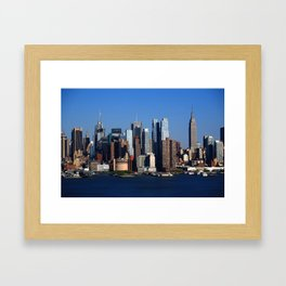 New York City Skyline 11 Framed Art Print