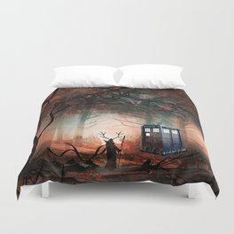 TARDIS IN THE FOREST Duvet Cover