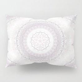 Floral Damask Mandala Blush White Pillow Sham