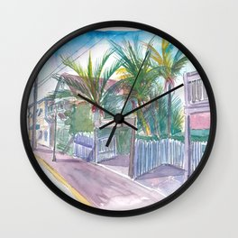 Blue Heaven Thomas St Patio Key West Florida Wall Clock