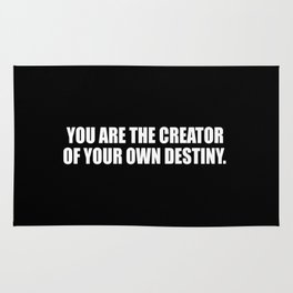 creator inspirational sayings and quotes Rug