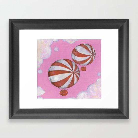 Peppermint Piggies Framed Art Print