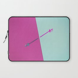 Magenta vs Cyan Laptop Sleeve