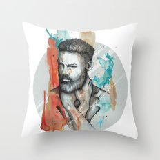 Raphael by carographic, Carolyn Mielke Throw Pillow