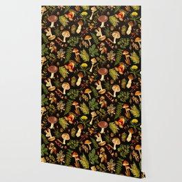 Vintage & Shabby Chic - Autumn Harvest Black Wallpaper