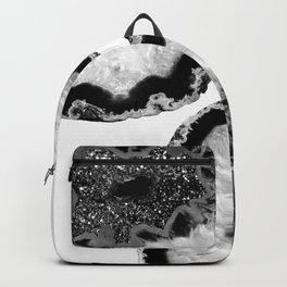 Gray Black White Agate Glitter Glamor #2 #gem #decor #art #society6 Backpack