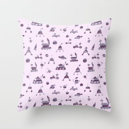 Space Cadet Pattern Throw Pillow