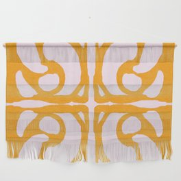 Abstract in Yellow and Cream Wall Hanging
