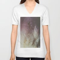 crystal V-neck T-shirts featuring Crystal by Neon Wildlife