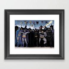 Batmen Framed Art Print