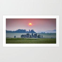 Sunrise at Stonehenge Art Print