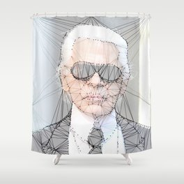 ICONS: Karl Lagerfeld Shower Curtain