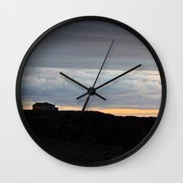 The Edge of Land Wall Clock