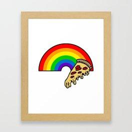 pizza rainbow Framed Art Print