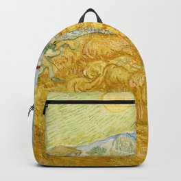 "Vincent van Gogh ""Wheat Field behind Saint Paul Hospital with a Reaper"" Backpack"