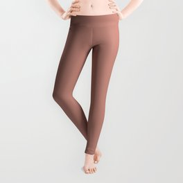 Solid Color - Pantone Rose Dawn 16-1522 Pink Leggings
