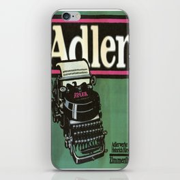 Vintage poster - Adler Typewriters iPhone Skin