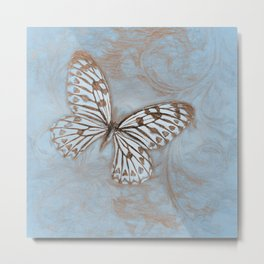 Blue Butterfly Spring Metal Print