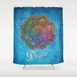 Peace Mandala Shower Curtain