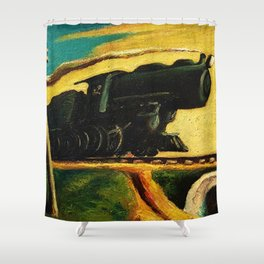 Classical Masterpiece 'Going West' by Thomas Hart Benton Shower Curtain