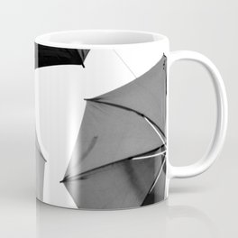 Black Umbrellas Coffee Mug
