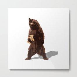 grizzlies need hugs too Metal Print
