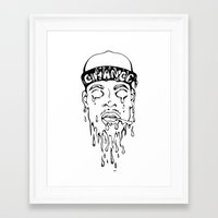 chance the rapper Framed Art Prints featuring Chance the Rapper by Fisch Design