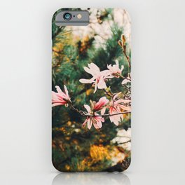 Golden flowers in the wind iPhone Case