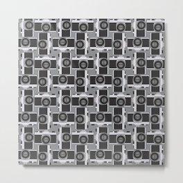 35mm Camera Pattern Metal Print