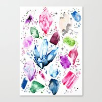 crystals Canvas Prints featuring Crystals by Monogamy Art