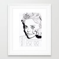 sky ferreira Framed Art Prints featuring Sky Ferreira by ☿ cactei ☿