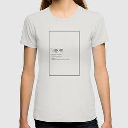Lagom 352 Watercolor Map Yoga Quote Definition Des T-shirt