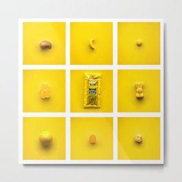 Yellow on Yellow. Metal Print