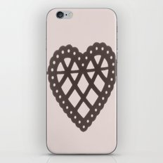 heart on a string iPhone & iPod Skin
