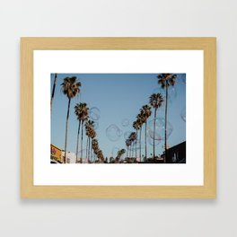 Bubbles & Palm Trees Framed Art Print