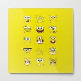 Spongebob Emoticon Metal Print