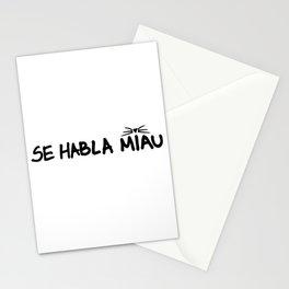 Se Habla Miau Stationery Cards