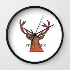 Highland Stag Wall Clock