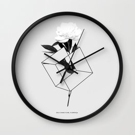 Seja Como Flor Wall Clock