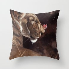 Butterfly Kiss Throw Pillow