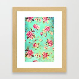 Vintage Flowers XLIII - for iphone Framed Art Print