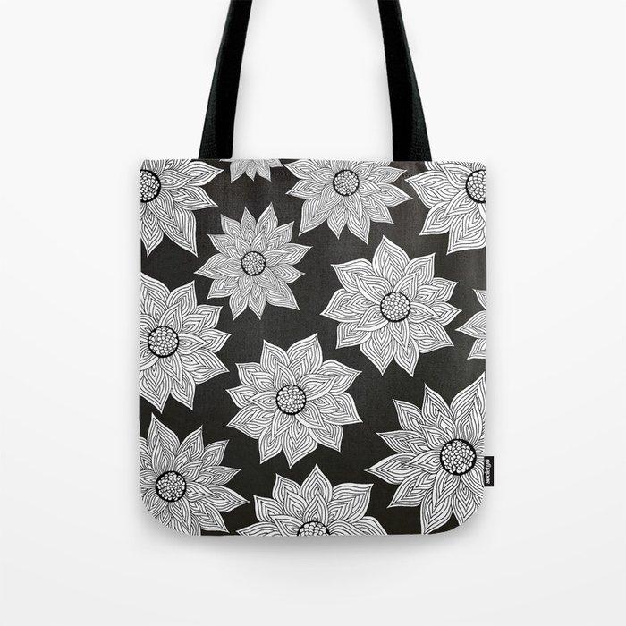 Elegant Flora Tote Bag