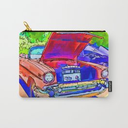 Red Retro Car Carry-All Pouch