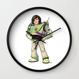Woody Lightyear (colour) Wall Clock