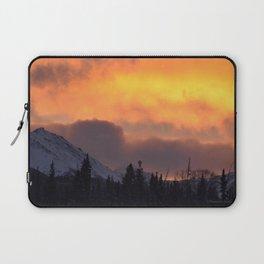 Sunrise Behind Chugach Mts ~ II Laptop Sleeve