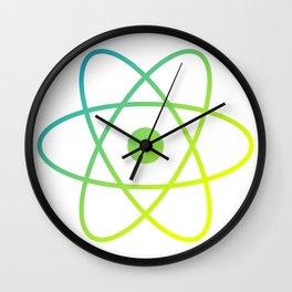 Atom Icon Wall Clock