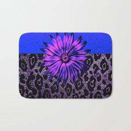 Purple Animal Print and Medallion Bath Mat