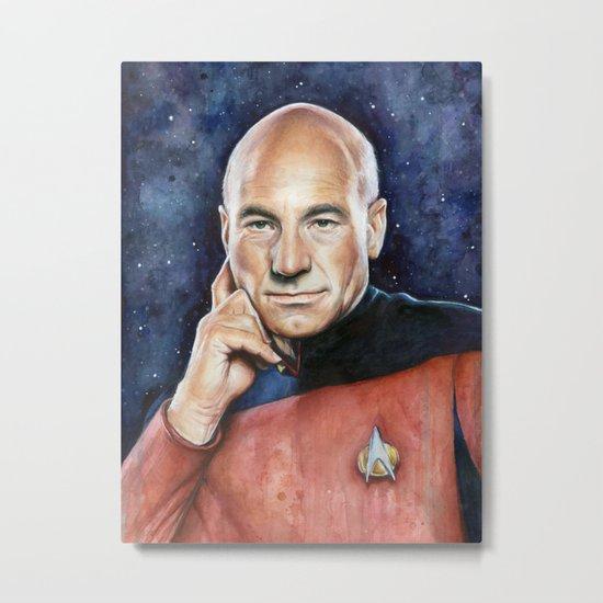 Captain Picard Metal Print