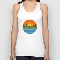 camping Tank Tops featuring Camping by Becky Gibson