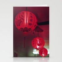 lanterns Stationery Cards featuring lanterns by rachel kelso